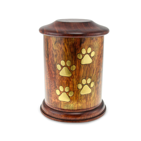 Gorran Wooden Pet Urn - Medium. Capacity of 90 cubic inches - Cherished Urns