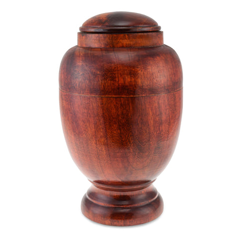 Sennen Wooden Rounded Urn Adult Cremation Urn for Ashes - Cherished Urns