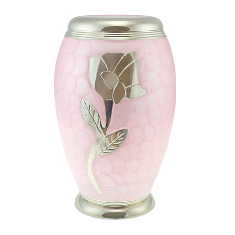 Rose Pink Patterned Adult Cremation Urn for Ashes - Cherished Urns