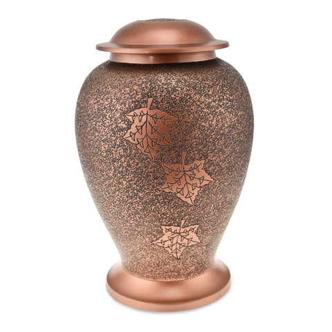 Polzeath Matt Copper Autumn Adult Cremation Urn for Ashes - Cherished Urns