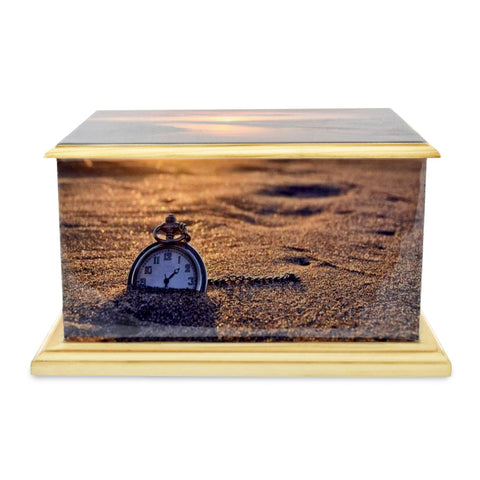 Pendower Wooden Painted Shore Casket Adult Cremation Urn for Ashes - Cherished Urns
