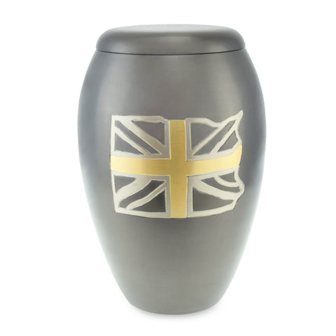 Union Flag Adult Cremation Urn for Ashes - Cherished Urns