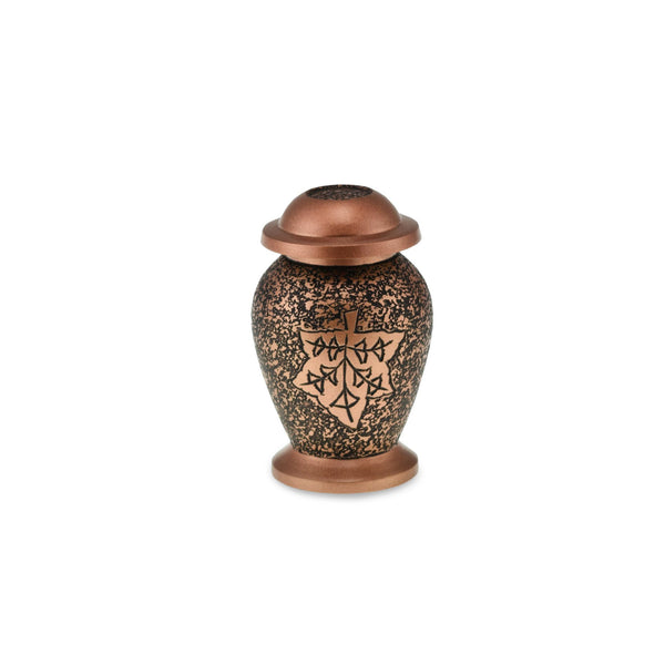 Polzeath Keepsake Matt Copper Autumn Adult Cremation Urn - Cherished Urns