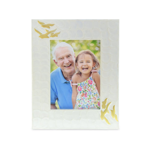 Going Home White Pearl & Bronze Photoframe - Cherished Urns