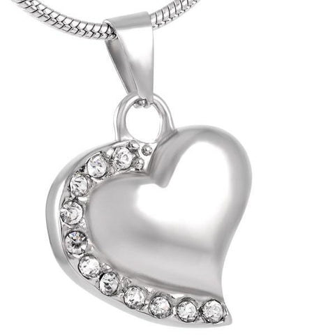 Heart with Stones Memorial Ash Keepsake Cremation Pendant - Cherished Urns