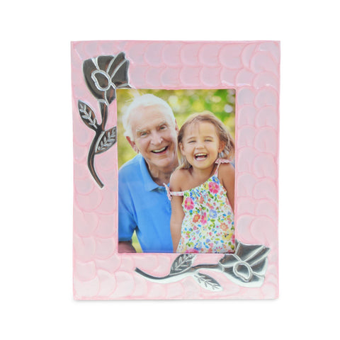 Rose Pink Patterned Photoframe - Cherished Urns