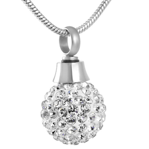 Ball Crystal Memorial Ash Keepsake Cremation Pendant - Cherished Urns