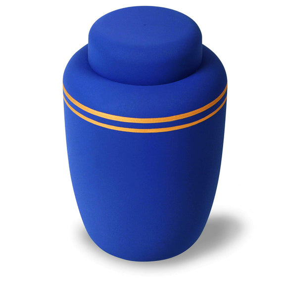 Extra Large Classic Navy Biodegradable Urn - Cherished Urns