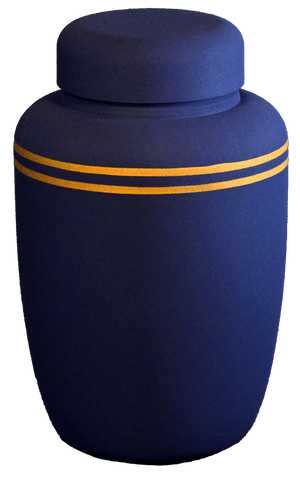 Classic Navy Biodegradable Urn - Cherished Urns