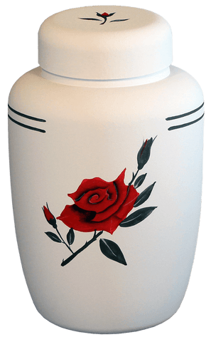 Classic Red Rose Biodegradable Urn - Cherished Urns