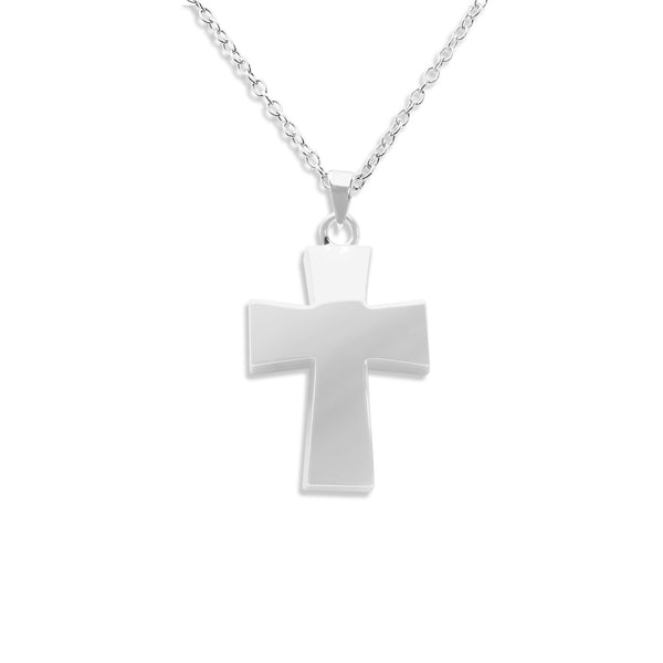 Vaulted Cross Hollow Ashes Cremation Pendant - Cherished Urns
