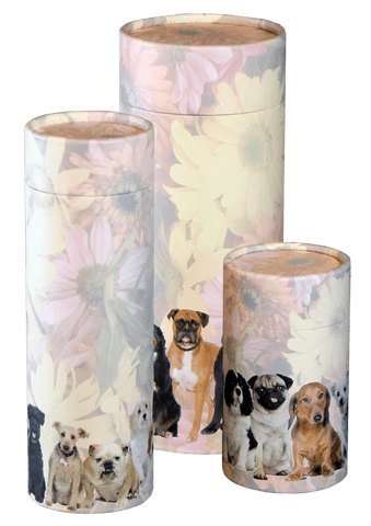 Dogs Design Eco-Friendly Scattering Tube - Pet, Large - Cherished Urns