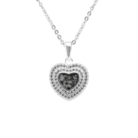 Ladies Cherish Memorial Ashes Pendant with Swarovski Crystals - Cherished Urns