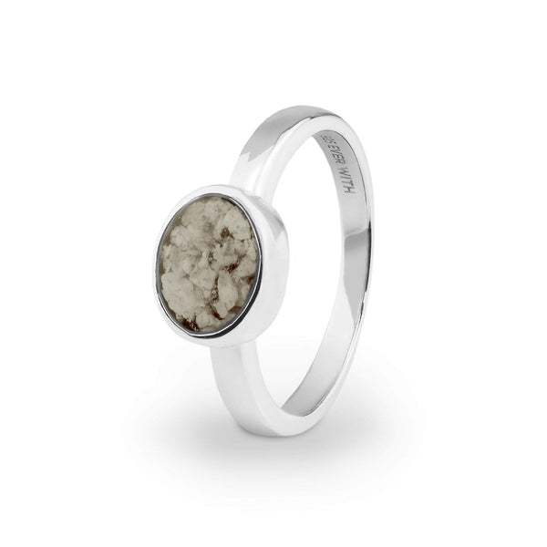 Ladies Oval Memorial Ashes Ring - Cherished Urns