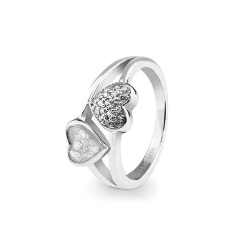 Ladies Cherish Memorial Ashes Ring with Swarovski Crystals - Cherished Urns