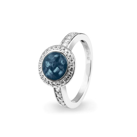 Ladies Radiance Memorial Ashes Ring with Swarovski Crystals - Cherished Urns