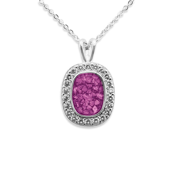 Ladies Treasure Memorial Ashes Pendant with Swarovski Crystals - Cherished Urns
