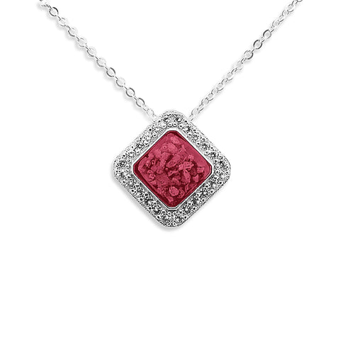 Ladies Bless Memorial Ashes Pendant with Swarovski Crystals - Cherished Urns