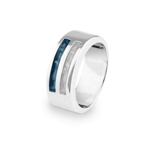 Gents Traditional Memorial Ashes Ring - Cherished Urns