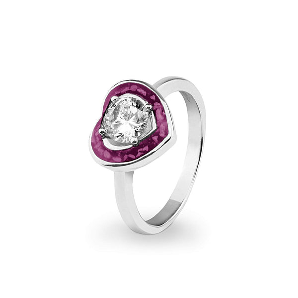 Ladies Beloved Memorial Ashes Ring with Swarovski Crystal - Cherished Urns