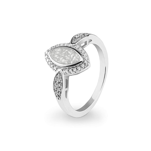 8a6cc0885 Ladies Marquise Memorial Ashes Ring with Swarovski Crystals - Cherished Urns