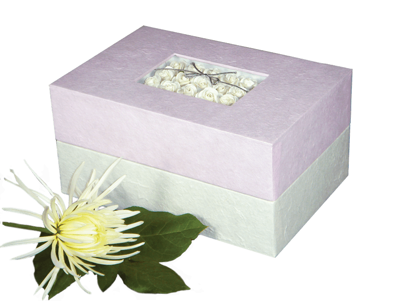 Memory Box Biodegradable Urn- Pink Floral Bouquet - Insert - Cherished Urns