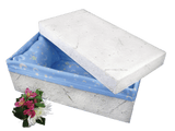 Baby Cremation Casket of Handmade Floral Paper - 19-inches - Cherished Urns