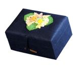 Earthurn Chest Biodegradable Urn- Navy Blue - Mini - Cherished Urns