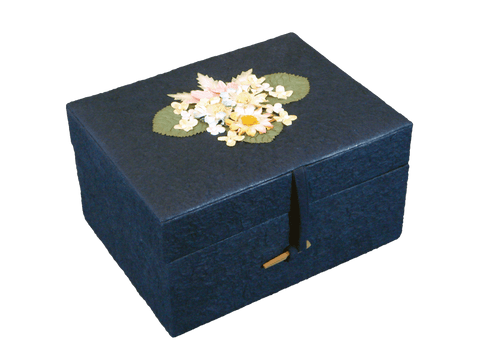Earthurn Chest Biodegradable Urn- Navy Blue - Adult - Cherished Urns