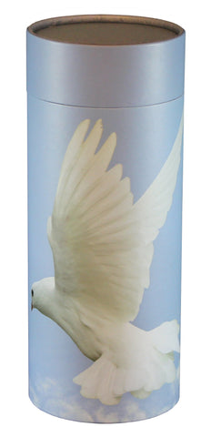 Ascending Dove Design Eco-Friendly Scattering Tube - Large Adult - Cherished Urns