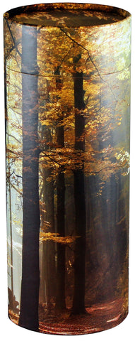 Autumn Leaves Design Eco-Friendly Scattering Tube - Large Adult - Cherished Urns