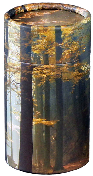 Autumn Leaves Design Eco-Friendly Scattering Tube - Small - Cherished Urns