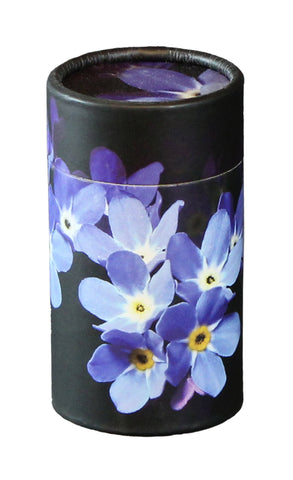 Forget Me Not Design Eco-Friendly Scattering Tube - Small - Cherished Urns