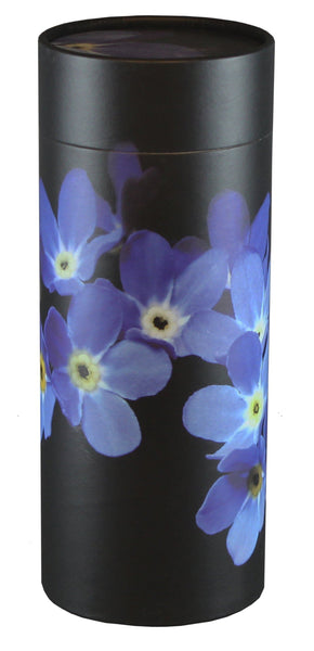 Forget Me Not Design Eco-Friendly Scattering Tube - Large Adult - Cherished Urns