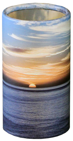 Ocean Sunset Design Eco-Friendly Scattering Tube - Small - Cherished Urns
