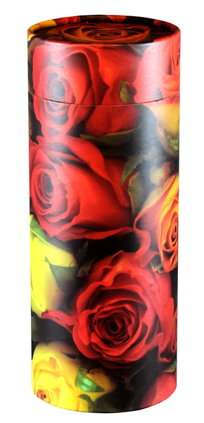Roses Design Eco-Friendly Scattering Tube - Large Adult - Cherished Urns