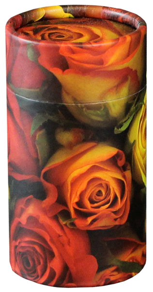 Roses Design Eco-Friendly Scattering Tube - Small - Cherished Urns