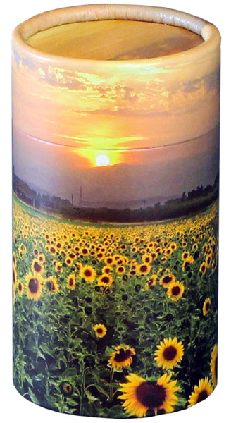 Sunflower Fields Design Eco-Friendly Scattering Tube - Small - Cherished Urns