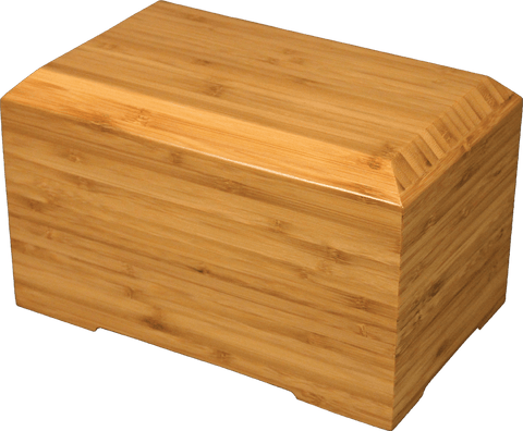 Tribute Solid Bamboo Semi-Permanent Urn for Cremation Ashes - Cherished Urns