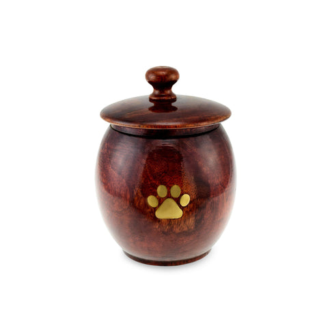 Godrevy Wooden Pet Urn - Medium. Capacity of 70 cubic inches. - Cherished Urns