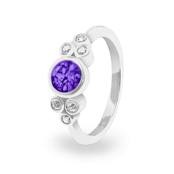 Ladies Praise Memorial Ashes Ring with Swarovski Crystals - Cherished Urns