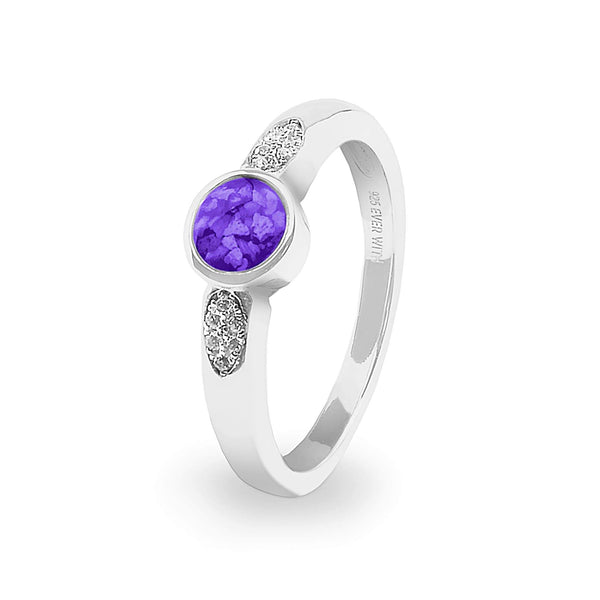 Ladies Special Memorial Ashes Ring with Swarovski Crystals - Cherished Urns