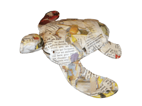 Turtle Water-soluble Urn-Mini Newsprint - Cherished Urns