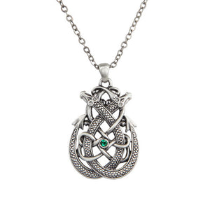 Celtic Dragon Pewter Necklace Jewelry- Mystica Collection