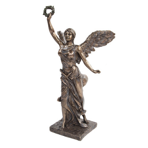 PTC 12.75 Inch Bronze Colored Winged Victory Reconstructed Figurine