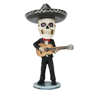 Pacific Trading Skeleton Mariachi Guitar Player Day of The Dead Bobblehead Toy