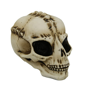 PTC 7 Inch Large Eyed Alien Skeleton Skull Resin Statue Figurine