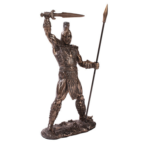 Achilles Spartan Warrior Home Decor Statue Made of Polyresin