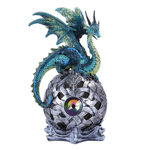 Pacific Giftware Fierce Green Dragon LED Light Ball Home Decor Figurine Handpainted Resin