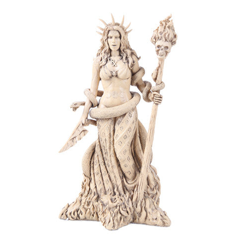 Greek Goddess White Sorceress Witchcraft Hecate Figurine Hekate Necromancy Deity Magic Powerful Pagan Witch Statue